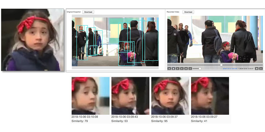 Face Search can be used in many public environments to identify faces against past and real-time video recordings.