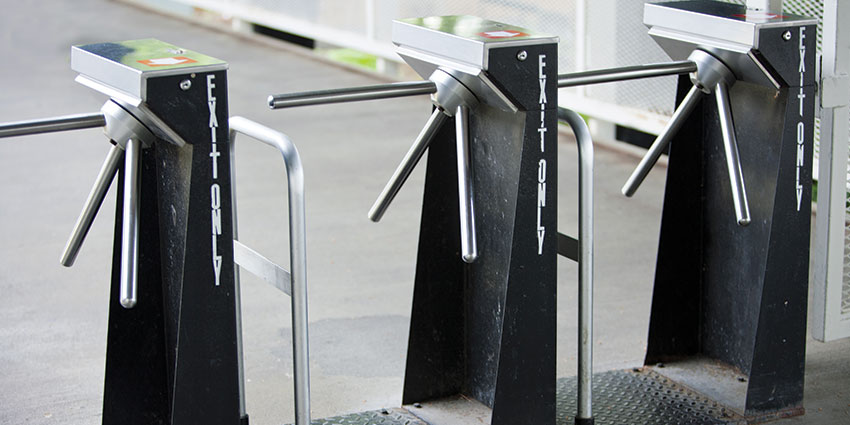 tripod turnstiles are considered a low security solution for crowd management