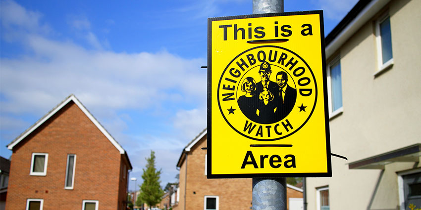4) Seek out neighbourhood watch groups in your area