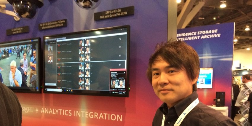 Panasonic is featuring its FacePRO AI-based facial recognition system that uses face images captured from video