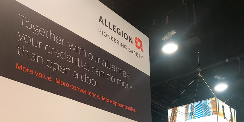 In addition to reaching end users, lock company Allegion sees the show as an opportunity to meet with technology partners