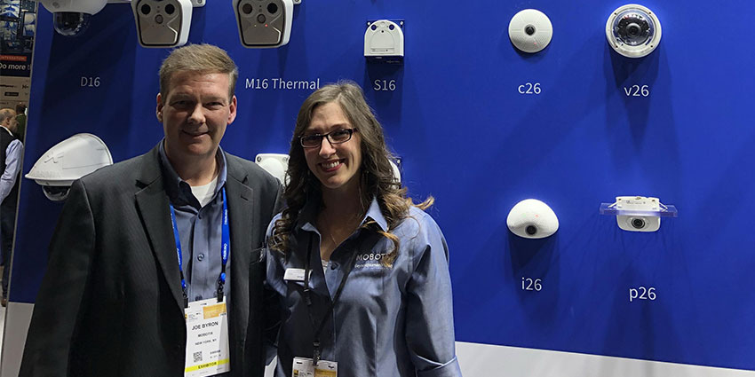 Joe Byron, Vice President of Sales, and Ashley Grabowski, Regional Marketing Manager, at MOBOTIX USA