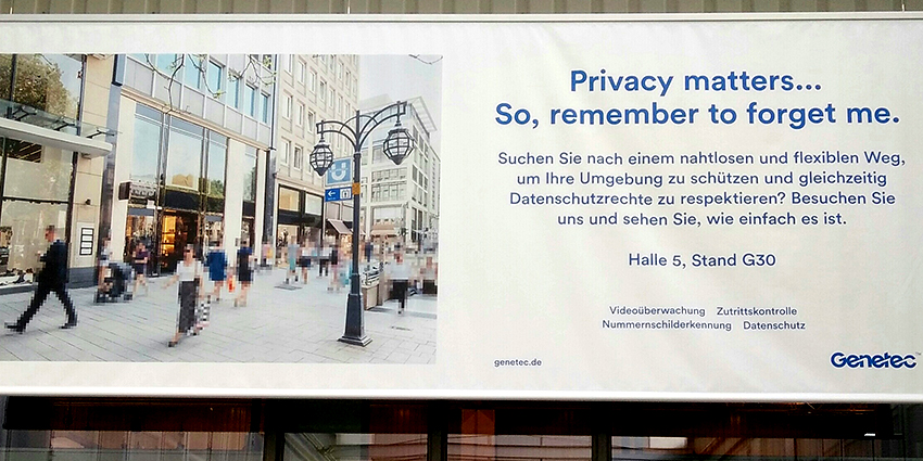 Genetec showcased GDPR provacy protection software at Security Essen 2018