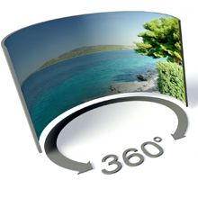 Panoramic view cameras are available with 360° imaging capabilities