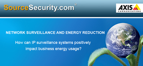 How can IP surveillance systems positively impact business energy usage?