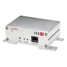 ExstreamerP5 is an an amplified IP decoder with Power over Ethernet (PoE) capability