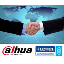 Dahua and Lenel logos