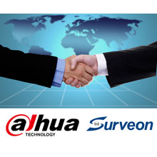 Dahua and Surveon logos