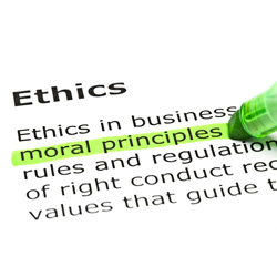 The ethos of a company should be part of any induction process with sessions on ethics as part of ongoing staff training and development