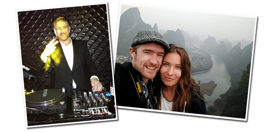 Liam McShane, Parfect Display Technology Sales Director enjoys DJing in jis spare time