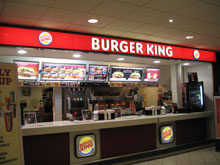 Burger King outlet protected by Hikvision security