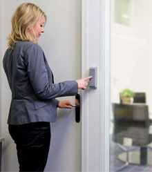 To book a room in a building for a particular date and time, an authorised user of the access control system simply connects via the Internet and enters their booking details