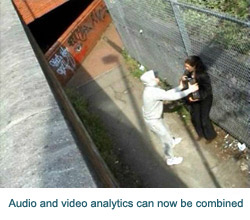 Audio and video analytics can now be combined