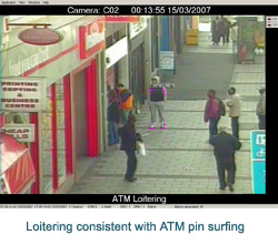 Loitering consistent with ATM pin surfing