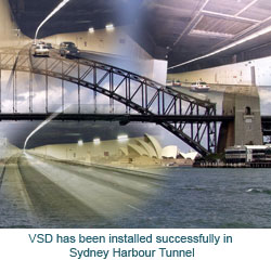 VSD has been installed successfully in Sydney Harbour Tunnel