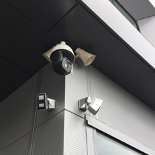At one site, 24 OPTEX REDWALL SIP external detectors have been specified at the outer perimeter, integrated with PTZ cameras