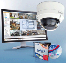 In addition to Basler's box camera models, SeeTec 5 supports Basler's IP Fixed Dome Cameras and is the first video management software to integrate the dome camera SD card functionality.