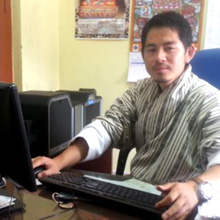 Thinley Dorji, Motor Vehicle Inspector at RSTA, is one of the officers responsible for the issuance of drivers' licenses in Bhutan