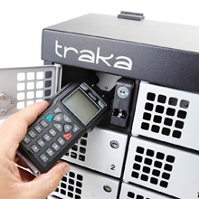 Traka's intelligent locker system with fault logging means users are able to return damaged or faulty handsets and receive a new device while the broken one is fixed