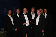 Mayflex security team, with Martin Morris, IP Security Sales Manager holding the coveted award.