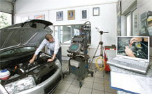 Seven diagnosis and repair experts specialising in different component groups work at the Technical Service Center