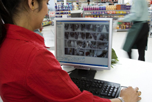 At locations around the store, management has access to the CCTV system via Dedicated Micros NetVu ObserVer software