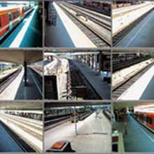 Over nine cameras provide precise images of the trains on ten tracks