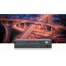 The VSM-4x4HFS has 4 HDMI inputs and 4 scaled HDMI outputs and offers flexible control options