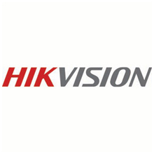 Hikvision logo, the company specialise in surveillance products and solutions