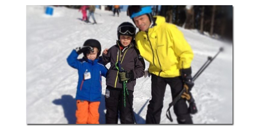 Fredrik Nilsson of Axis Communications enjoys skiing with his family