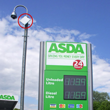 FreeSpace Networks' CCTV transmission solutions deployed at Asda petrol station