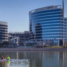 Hayden Ferry Lakeside serves the whole of the greater Phoenix region as a parking, retail/restaurant and outdoor gathering space for those working in or visiting downtown Tempe