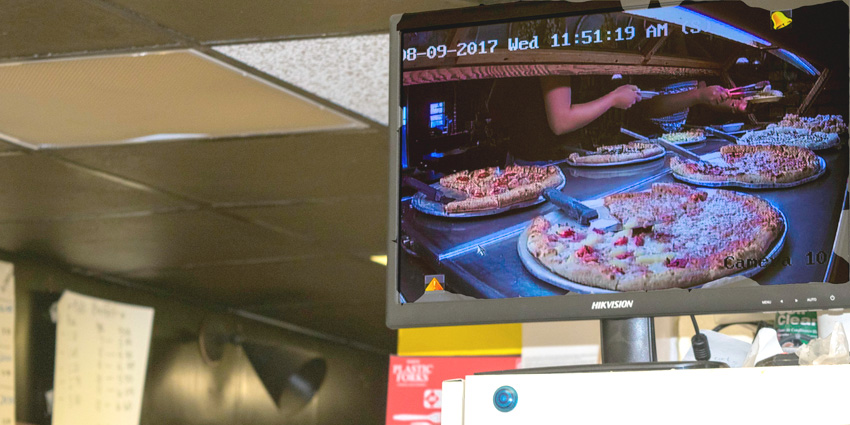 Spinner's kitchen staff can now see the entire buffet from a monitor in the kitchen