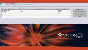 Setting Up Macro Displays When Using ViconNet Video Management Software