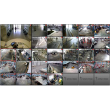 The footages of 8 channel network cameras have been recorded to VIVOTEK's 8-CH standalone network video recorder- ND8321