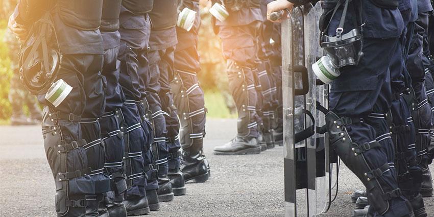 Police training terrorist threat