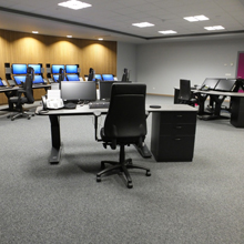 Consoles from Winsted's EnVision range were specified to provide modular solution which allows future expansion or changes in configuration to meet future operational needs