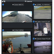 The Milestone video product feeds the C4 common operating picture, enabling the dispatchers to maintain the big picture