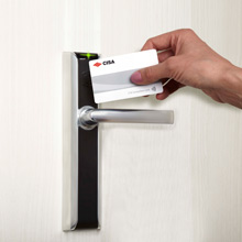 With its elegant and compact Italian design, Allegion's CISA eSIGNO Contactless Locks require no wiring or invasive work on the door