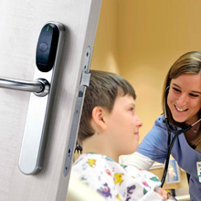 The BioCote finish reduces the level of microbes on SALTO escutcheons by up to 99.99% to provide a cleaner, safer and more hygienic environment