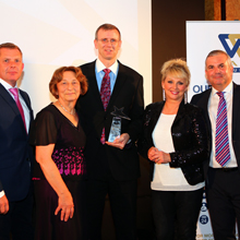 Ward Security presented nine employees with the award for outstanding achievements during their employment in 2014