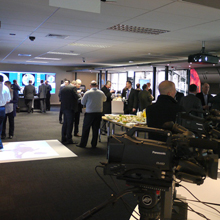 The event, held at the Panasonic Solutions Centre in Bracknell, was the first opportunity to see the Ultra 360-degree cameras (WV-SFV481 and WV-SFN480) in the UK