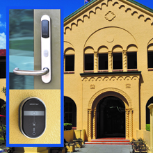 Doors were fitted with new SMARTair™ battery-powered electronic escutcheons and wall readers
