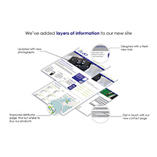 The modern and easy to navigate website offers detailed technical information