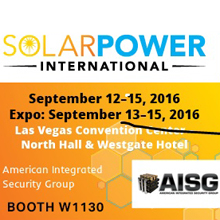 The AISG Critical Infrastructure Group will be on-hand to meet with the more than 15,000 solar pros