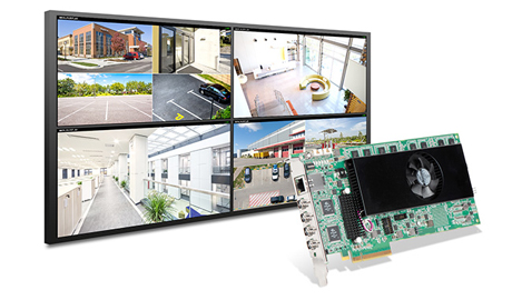 The Matrox Mura™ IPX 4K IP decode and display card is a cost-effective, easy-to-integrate multiviewer for control rooms and AV presentation applications