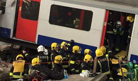 Exercise Unified Response replicated the aftermath of a tower block falling into Waterloo Station
