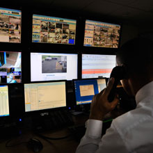 The intelligence network combines control of on-site security systems as well as guarding, investigations