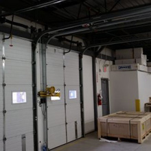 This system offers protection to Millworks Custom Manufacturing's valuable hardwood materials in the facility