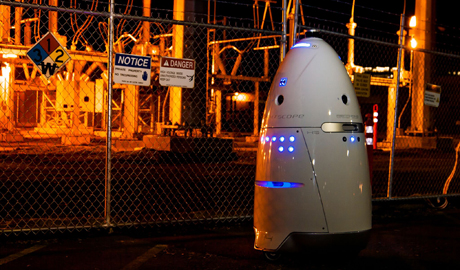 The company has been marketing the machines to office buildings where the larger outdoor-oriented K5 units function as security assistants